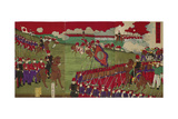 The Great Training Maneuvers by Various Army Corps (Shotai Dai Choren No Z) Giclee Print by Toyohara Chikanobu