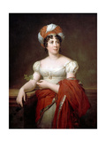 Portrait of the Author Baronne Anne Louise Germaine De Staël (1766-181) Giclee Print by François Pascal Simon Gérard