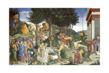 Scenes from the Life of Moses, 1481-1482 Giclée-Druck von Sandro Botticelli