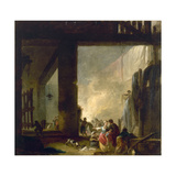The Laundry Reproduction procédé giclée par Hubert Robert