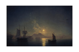 Naples by Night, 1850 Giclee Print by Ivan Konstantinovich Aivazovsky