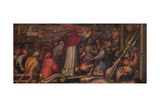 Pope Eugene IV Disembarks at Leghorn to Take Refuge in Florence, 1563-1565 Giclee Print by Giorgio Vasari
