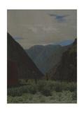 The Barskaun Mountain Pass Giclee Print by Vasili Vasilyevich Vereshchagin