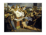 Pheidippides Giving Word of Victory after the Battle of Marathon Giclee Print by Luc-olivier Merson