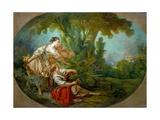 L'Appeau, Dit. L'Appeau, Dit L'Oiseau Pris Dans Les Filets Giclee Print by François Boucher