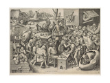 The Witch of Malleghem Lámina giclée por Pieter Bruegel the Elder
