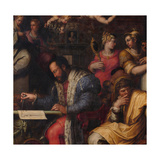 Cosimo Studies the Taking of Siena, 1563-1565 Giclee Print by Giorgio Vasari