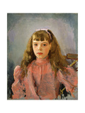 Portrait of Grand Duchess Olga Alexandrovna of Russia, 1893 Giclee Print by Valentin Serov