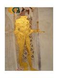 The Beethoven Frieze, Detail: Knight in Shining Armor Lámina giclée por Gustav Klimt