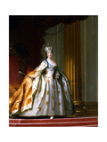 Portrait of Empress Catherine the Great in Her Coronation Robe Giclee Print by Vigilius Erichsen