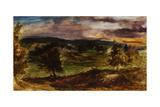 Landscape at Champrosay Giclee Print by Eugène Delacroix