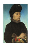 Portrait of John the Fearless, Duke of Burgundy, Mid of the 15th C Giclee Print