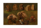 Study of Pack Saddles and Other Objects Giclee Print