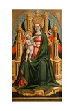The Virgin and Child Enthroned and Two Angels, C. 1450 Giclee Print by Antonio Vivarini
