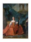 Princess Anne Henriette of France (1727-175) Giclee Print by Jean-Marc Nattier