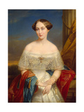 Portrait of Grand Duchess Olga Nikolaevna of Russia, (1822-189), Queen of Württemberg, 1848 Giclee Print by Nicaise De Keyser