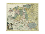 Map of Estonia and Livonia, 1745 Giclee Print