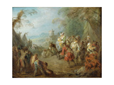 Encampment (Soldiers' Hal) Giclee Print by Jean-Baptiste Pater