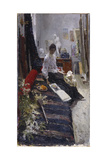In the Painter's Studio Giclee Print by Konstantin Alexeyevich Korovin