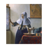 Young Woman with a Water Pitcher Giclee Print by Jan Vermeer