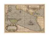 Maris Pacifici (From Theatrum Orbis Terraru), 1595 Giclee Print by Abraham Ortelius