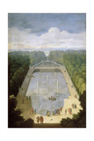 Bosquet De L'Île Royale and Bassin Du Miroir in the Gardens of Versailles Giclee Print by Etienne Allegrain