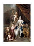 Marquise De Montespan (1640-170) and Her Children Giclee Print by Charles de La Fosse