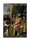 King David Lámina giclée por  Domenichino