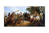 The Battle of Bouvines on 27 July 1214 Giclée-Druck von Horace Vernet