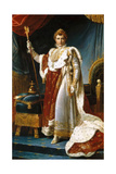 Portrait of Emperor Napoléon I Bonaparte (1769-182) in His Coronation Robes Giclee Print by François Pascal Simon Gérard