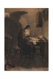 Pimen, Illustration to the Drama Boris Godunov by A. Pushkin Giclee Print by Viktor Mikhaylovich Vasnetsov