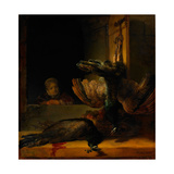 Still Life with Two Peacocks and a Girl, Ca 1639 Giclee Print by  Rembrandt van Rijn