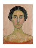 Portrait of Valentine Godé-Darel (Head of French Woma) Gicléetryck av Ferdinand Hodler