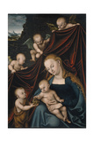 The Virgin and Child with Saint John and Angels Giclee Print by Lucas Cranach the Elder