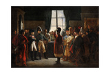 Tsar Alexander I Presenting the Kalmyks, Cossacks and Bashkirs of Russian Army to Napoleon I Giclee Print by Pierre-nolasque Bergeret