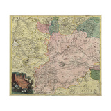 Map of Moscow Governorate and Parts of Nearest Provinces, 1745 Giclee Print