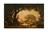Clearing in the Woods of Fontainebleau Giclee Print by Théodore Rousseau