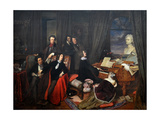 Franz Liszt Fantasizing at the Piano, 1840 Giclee Print by Josef Danhauser