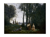 Le Concert Champêtre (Woodland Music-Maker) Giclee Print by Jean-Baptiste Camille Corot