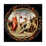 Allegory of Love (Venus Terrestre with Eros and Venus Celeste with Anteros and Two Cupid) Giclee Print