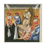 Saint Catherine of Siena before the Pope at Avignon Giclee Print by Giovanni di Paolo