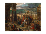 The Entry of the Crusaders in Constantinople Reproduction procédé giclée par Eugène Delacroix