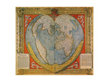 Heart Shaped World Map Giclee Print by Oronce Fine