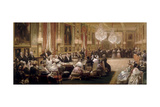 Concert in the Galerie Des Guise at Chateau D'Eu, 4th September 1843 Giclee Print by Eugène Louis Lami