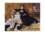 Madame Georges Charpentier and Her Children, Georgette-Berthe and Paul-Émile-Charles Giclee Print by Pierre-Auguste Renoir