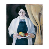 Portrait with Apples Giclee Print by August Macke