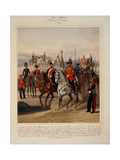 Soldiers of the 1st Guard Cavalry Division of the Russian Imperial Guard, 1867 Giclee Print by Karl Karlovich Piratsky