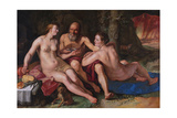 Lot and His Daughters, 1616 Giclee Print by Hendrick Goltzius