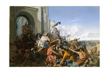 Death of Robert Le Fort in the Battle of Brissarthe, 866 Giclee Print by Henri Lehmann