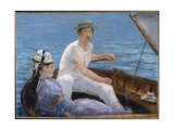 Boating, 1874 Giclee Print by Édouard Manet
